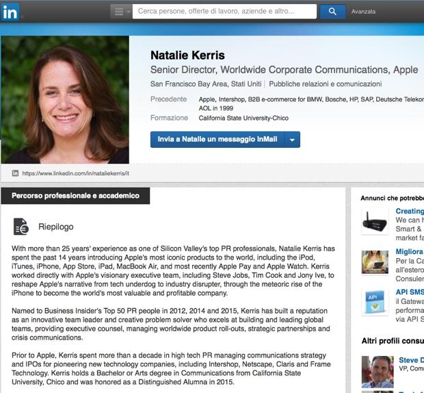 Natalie Kerris comunicazioni apple 2