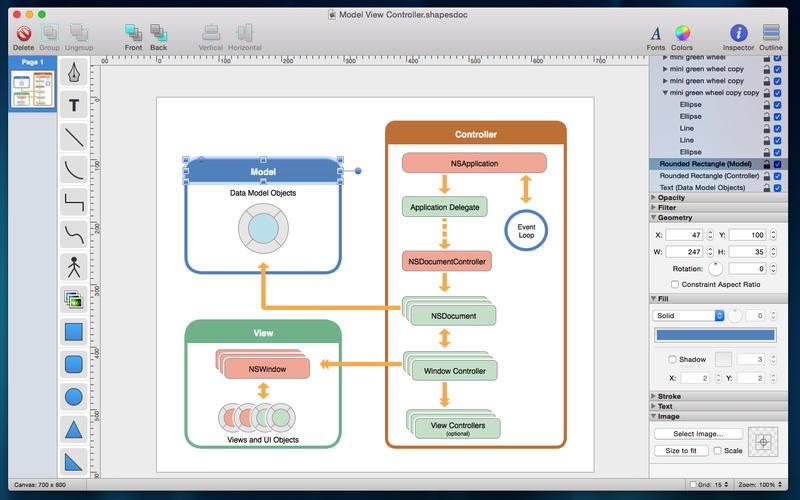 Shapes l app per creare al volo diagrammi e schemi su mac for Programma per creare