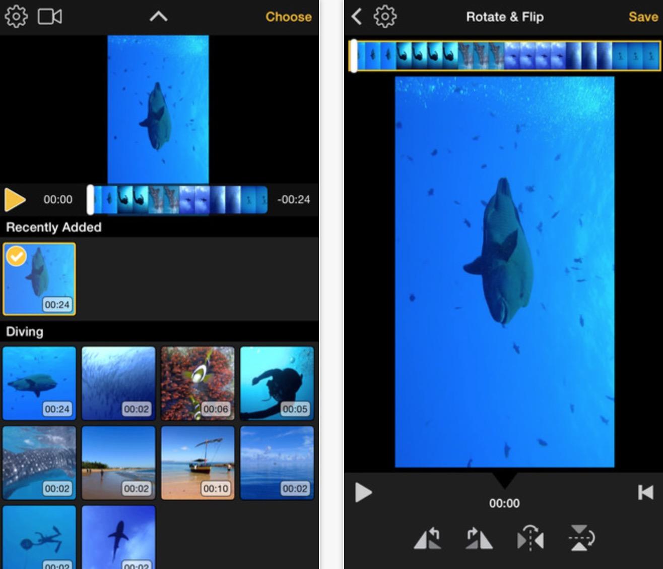 Ruotare i video di iPhone