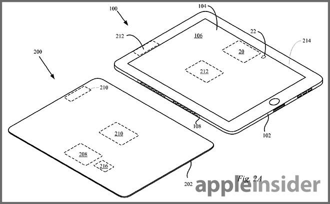 Un brevetto di Apple per un sistema di ricarica a induzione per iPad