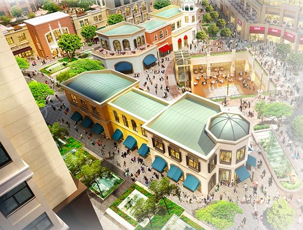 Rendering delle strutture nel centro commerciale Emaar