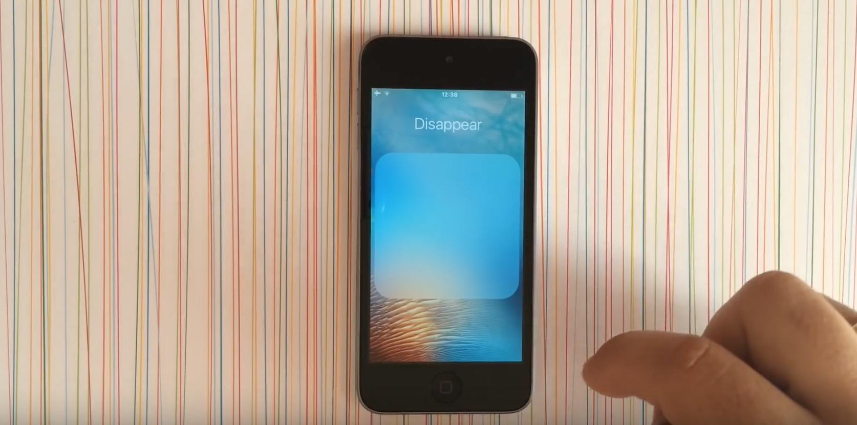 Applicazioni di serie su iOS 9, un trucco per nasconderle