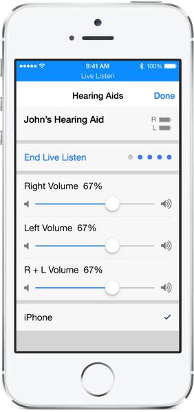 apparecchi acustici iPhone