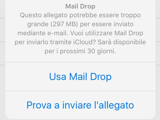 allegati da mail drop
