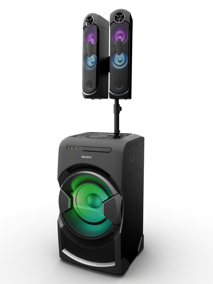 ces 2016 sony presenta gtk xb7 mhc gt4d mhc v11 sistemi audio wireless ad alta potenza. Black Bedroom Furniture Sets. Home Design Ideas