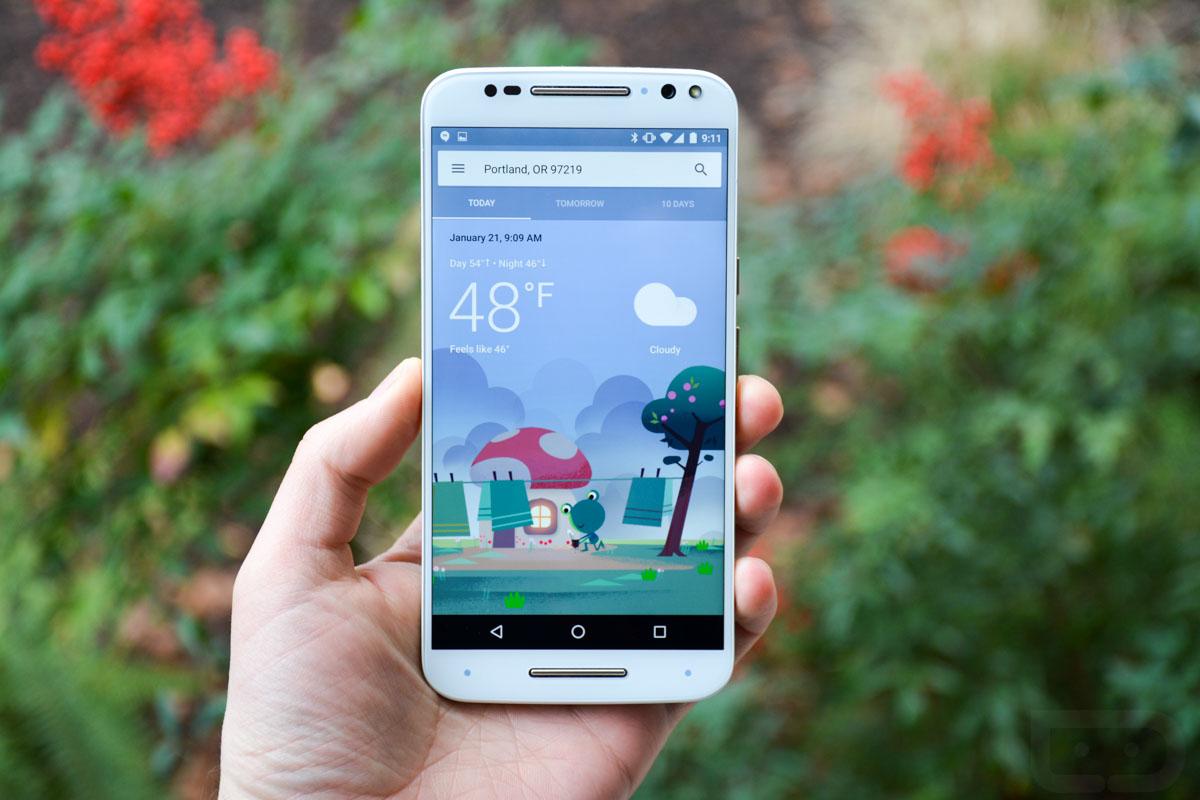previsioni del tempo su Android