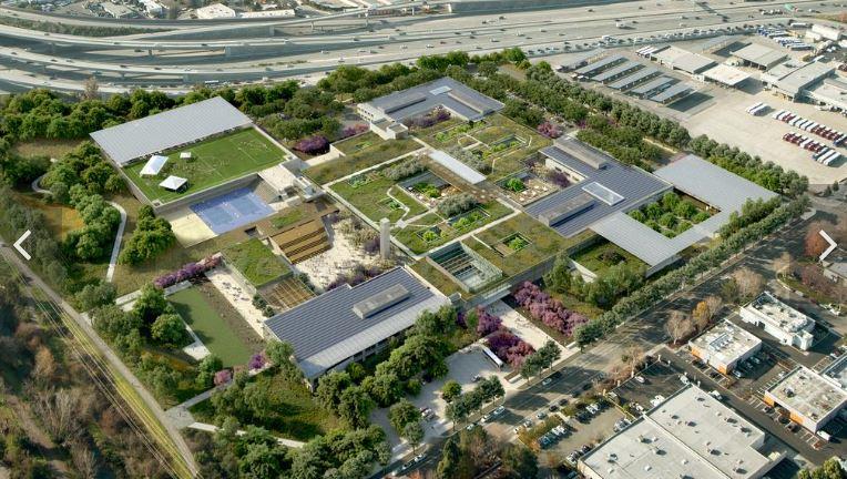 campus di Mountain View Microsoft rendering