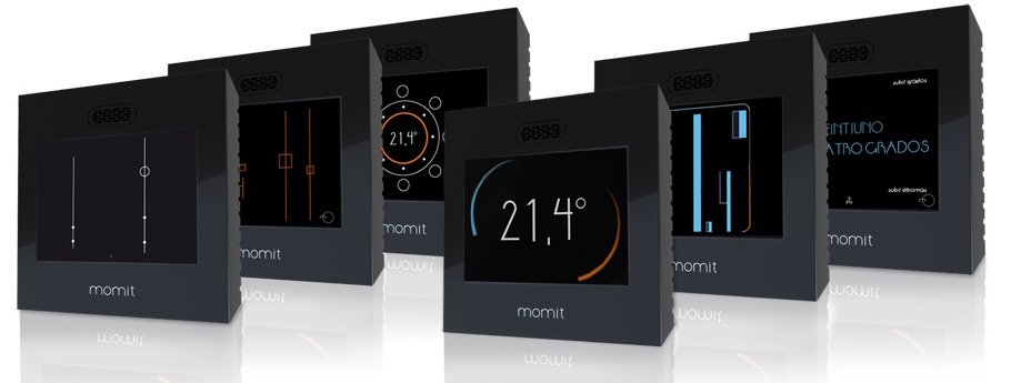 Le varie modalità di visualizzazione delle temperatura su Momit Smart