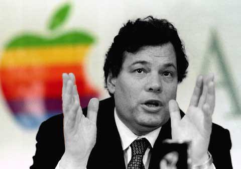 """Michael """"Diesel"""" Spindler, l'uomo alla testa di Apple nel 1996. Fu scelto come successore di John Sculley quando quest'ultimo venne estromesso dal consiglio direttivo nel giugno del 1993."""