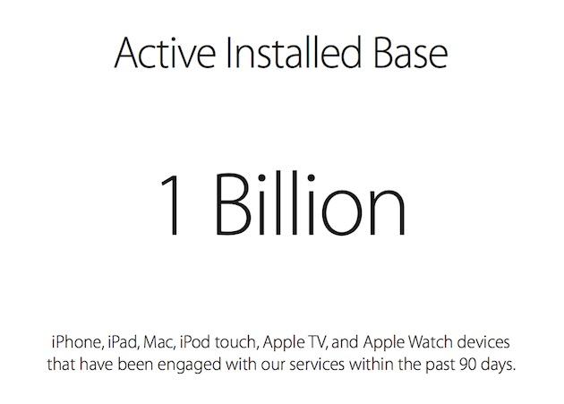 un miliardo dispositivi apple