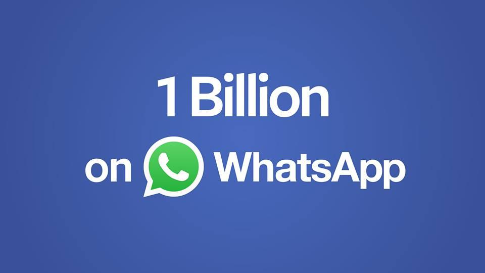 WhatsApp festeggia 1 miliardo di utenti
