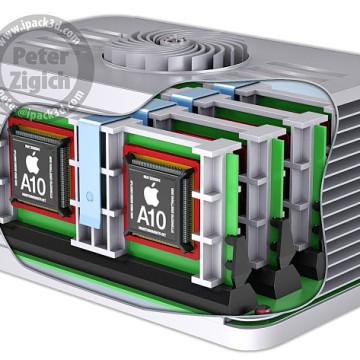 Concept di Mac Pro modulare con CPU A10