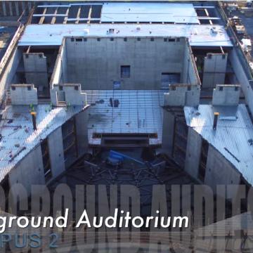 Uno sguardo all'auditorio in costruzione