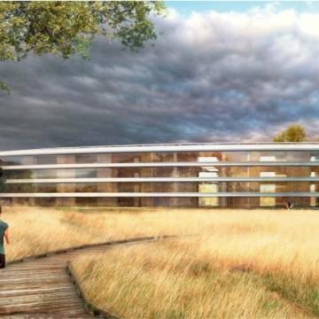 Un rendering di esempio di una vista del futuro campus