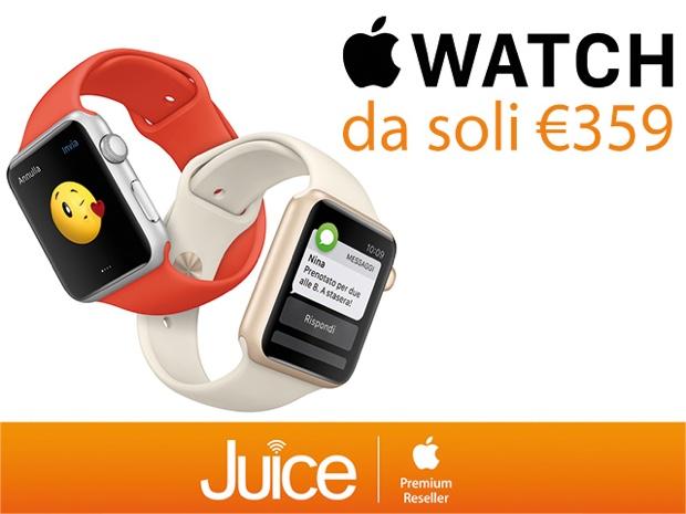 Juice taglia il prezzo di Apple Watch 620