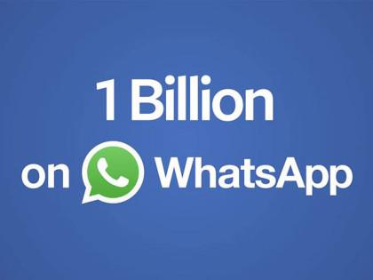 Un miliardo di utenti su WhatsApp