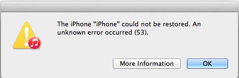 Errore 53 di iPhone