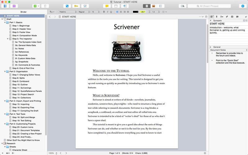 Scrivener per Mac scrivener per ios