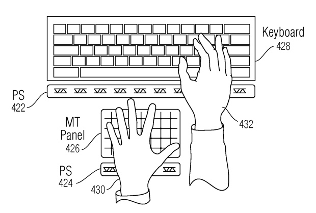 gesture aeree brevetto apple 3