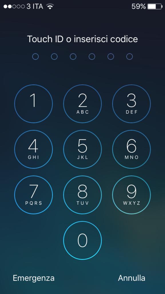 iphone passcode mio