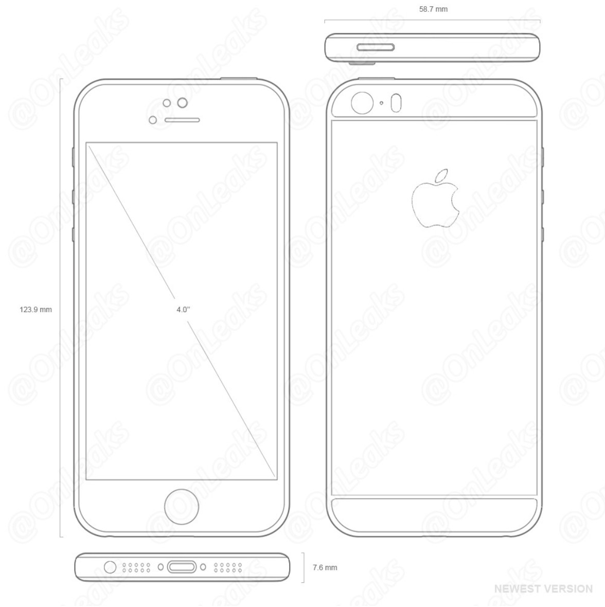 schema iPhone 5se