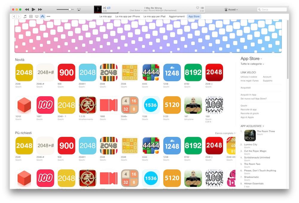 Classifiche App Store impazzite