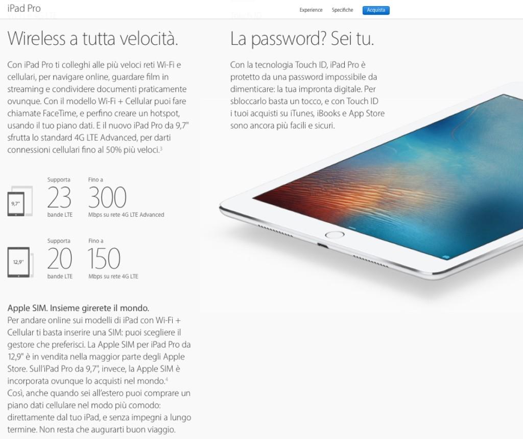 Apple SIM digitale 1200 sito apple