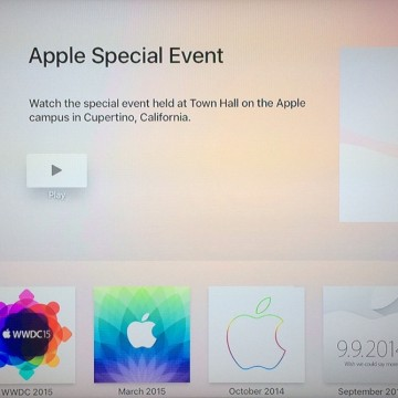 Applicazione per le dirette Apple TV 3