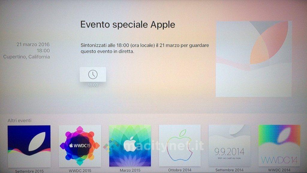 Applicazione per le dirette Apple TV 6