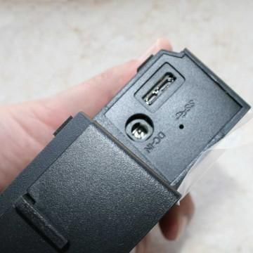 Ingresso alimentazione e porta USB
