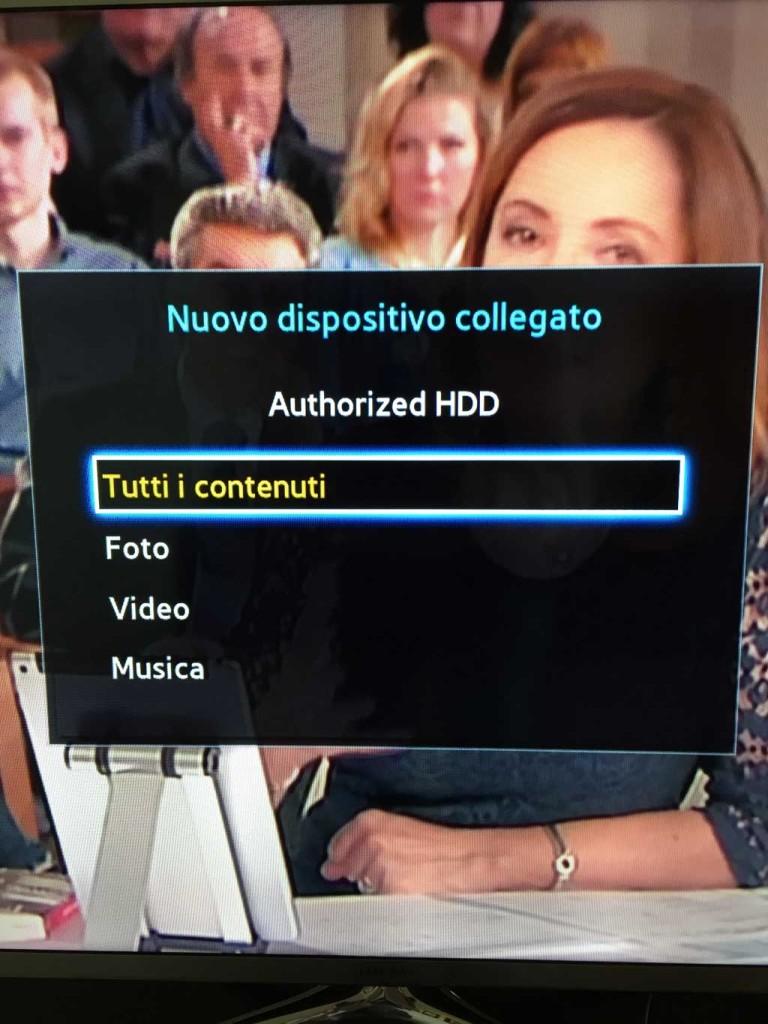 Collegamento ad una TV Samsung