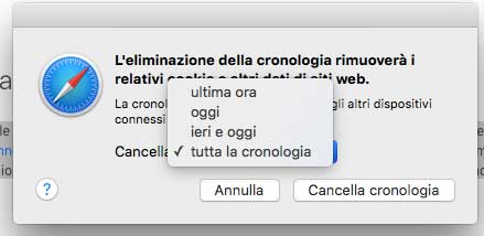 Ripristinare Safari Mac