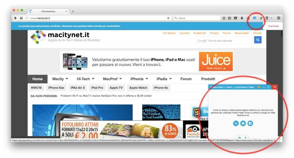 Firefox 45 Hello