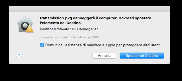 KeRanger, il ransomware per Mac