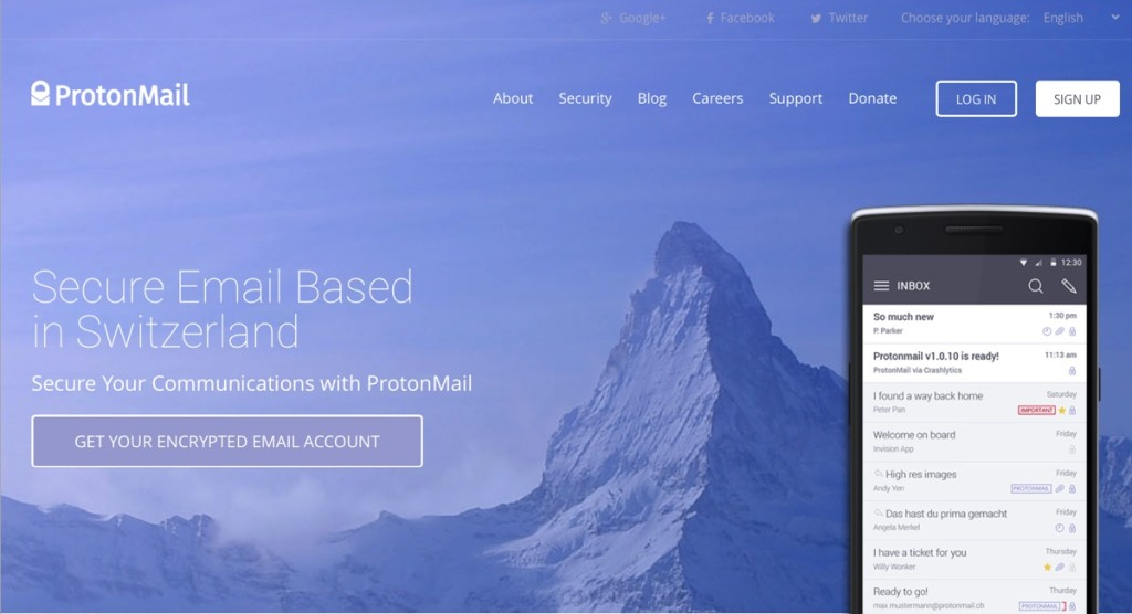 ProtonMail web