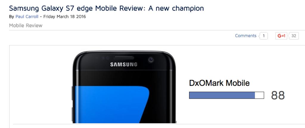 Samsung Galaxy S7 edge miglior cameraphone oggi disponibile