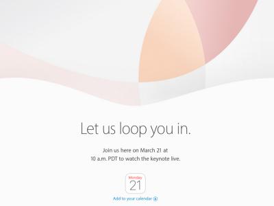 evento apple 21 marzo
