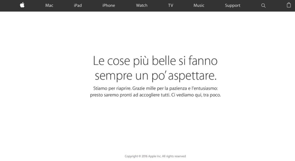 apple store chiuso ITA 21marzo