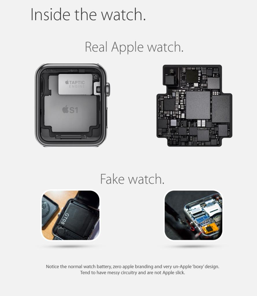 riconoscere per un Apple Watch originale da un Apple Watch falso