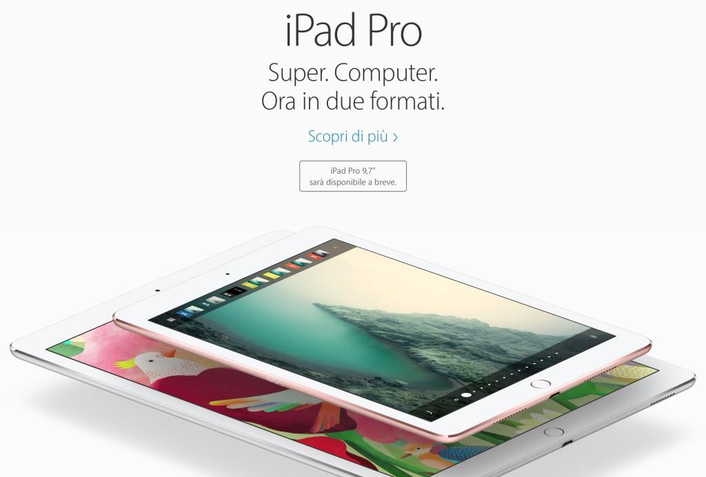 iPad Pro 9.7 Italia