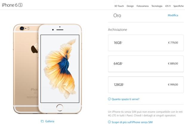 iphone 6s da 64 GB apple