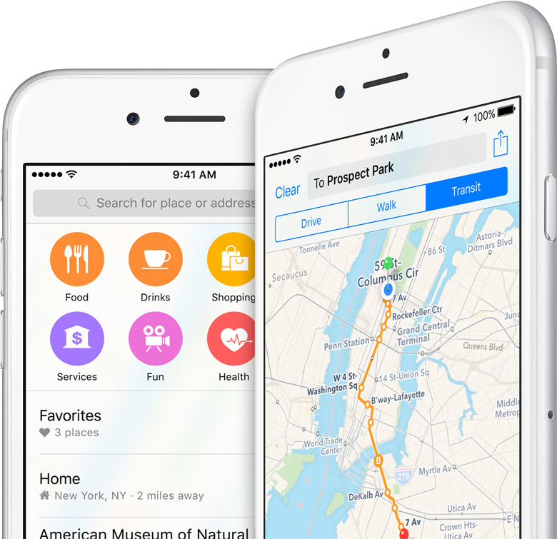 mappe iOS 9 svizzera