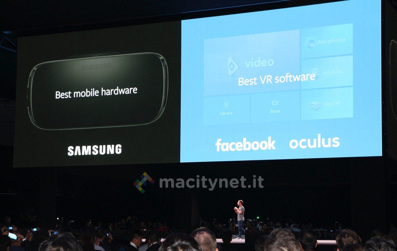 samung vr la realtà virtuale