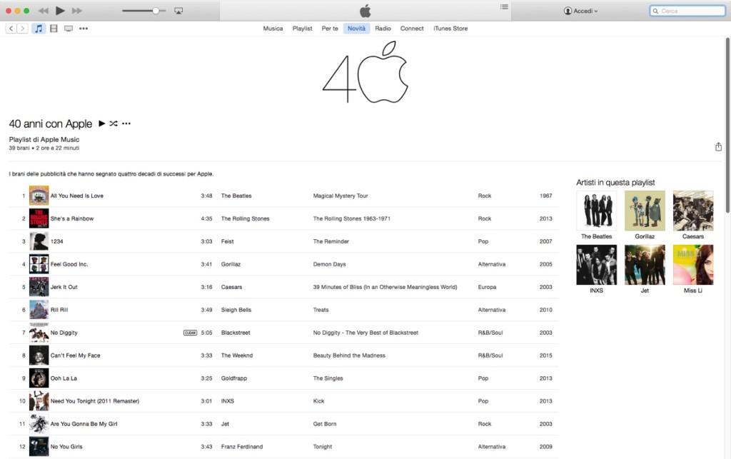 40 anni con apple playlist 1200