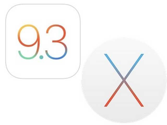 ios 9.3 e OS X