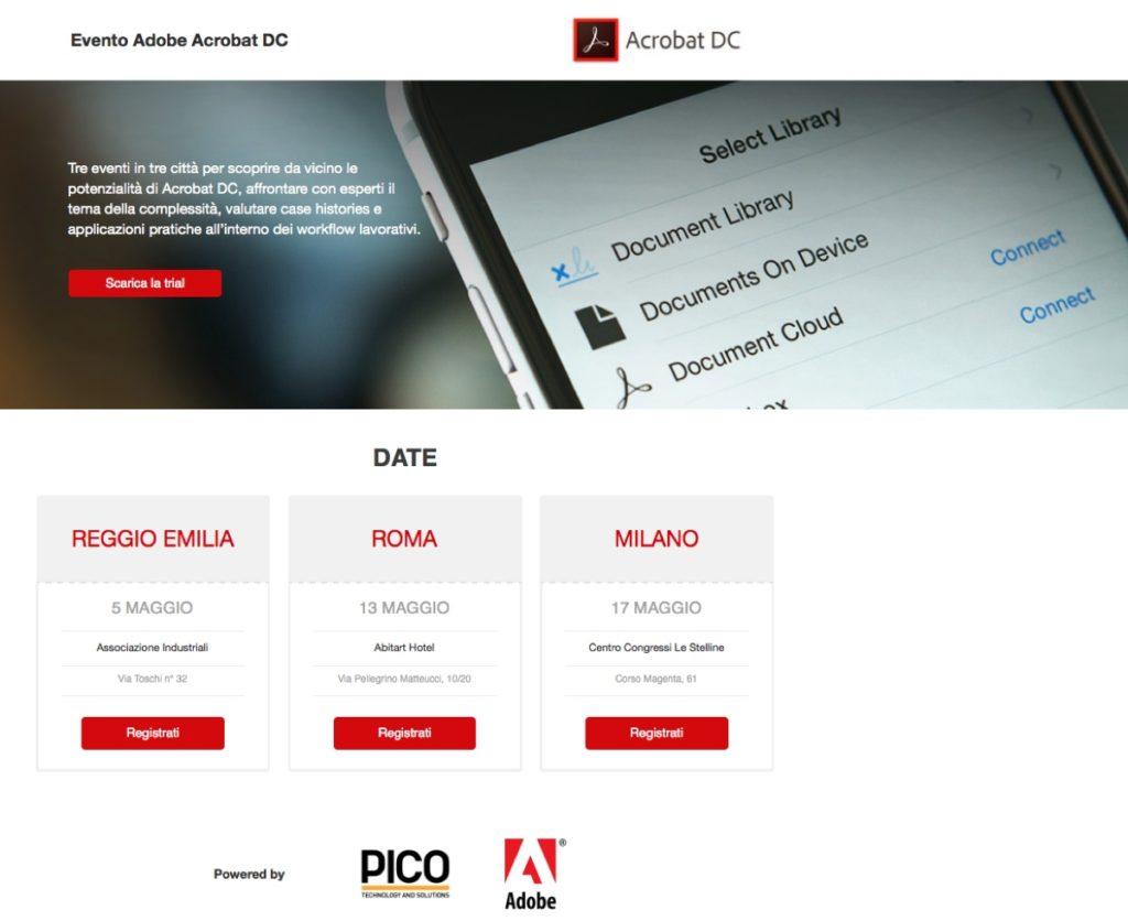 Adobe Acrobat DC seminari gratis 1200