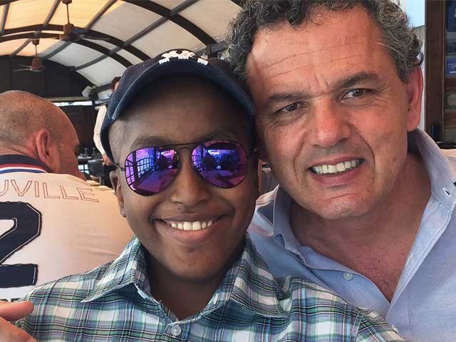 Leonardo Fabbretti con il figlio Dama