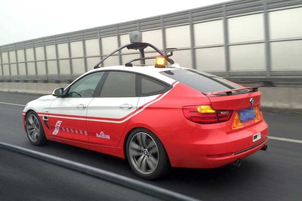 auto a guida autonoma di baidu