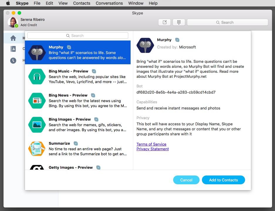 chatbot di Skype