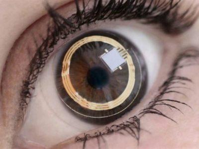 lente a contatto fotografica